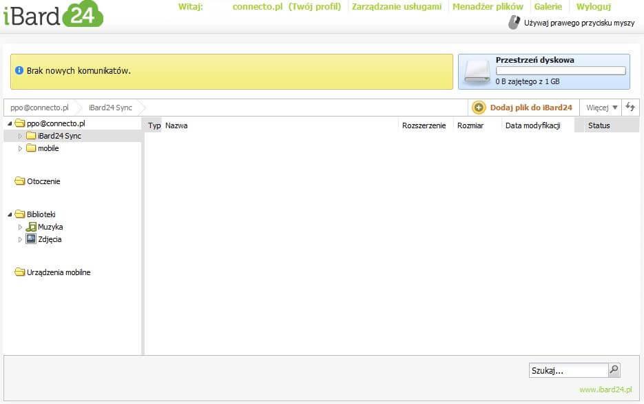 Aplikacje mobilne dla firm: przestrzeń dyskowa w chmurze Comarch