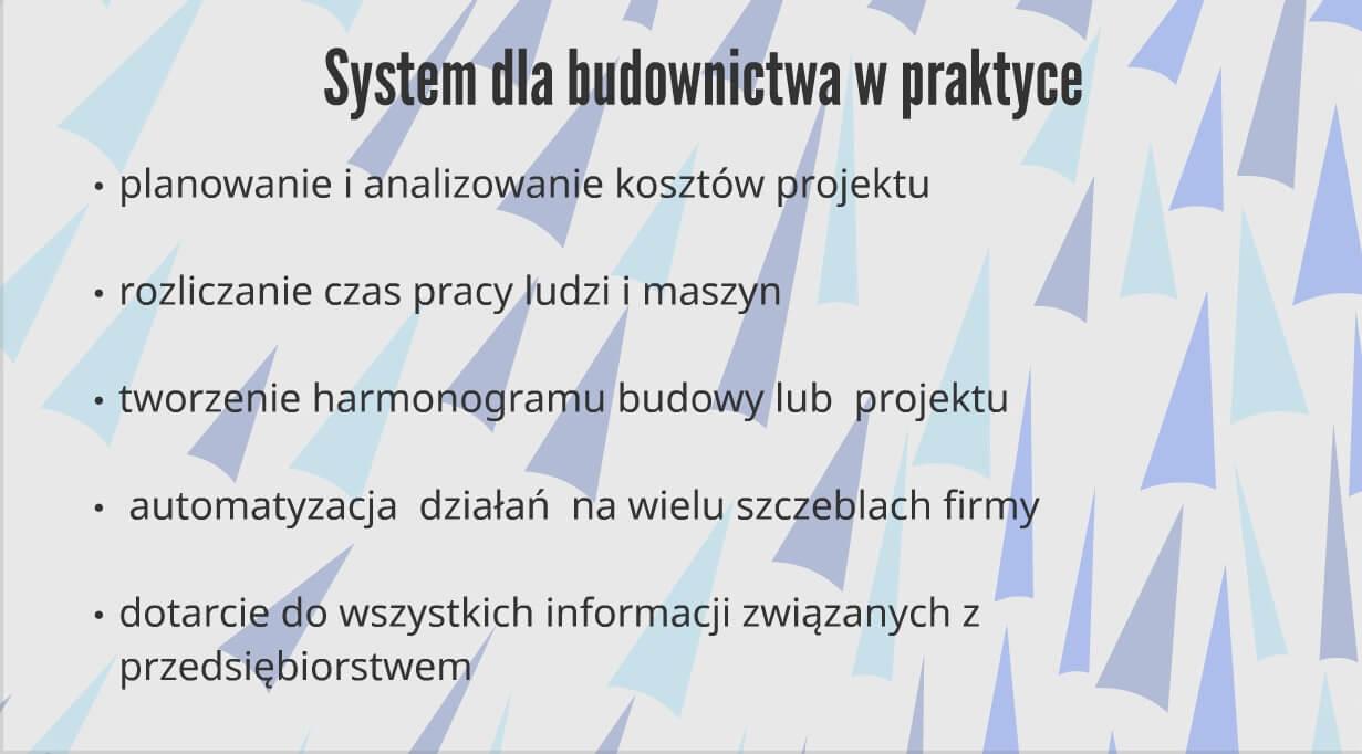 Oprogramowanie dla firm budowlanych w praktyce