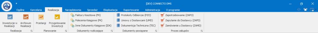 Connecto DMS - widok generalny wykonawca - deweloper