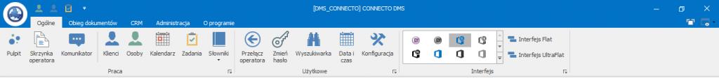 Connecto DMS - standardowy widok