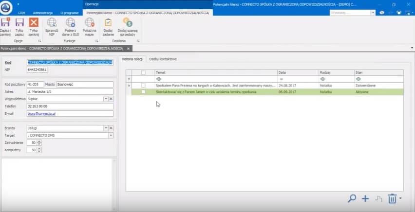 Connecto DMS integracja z ERP